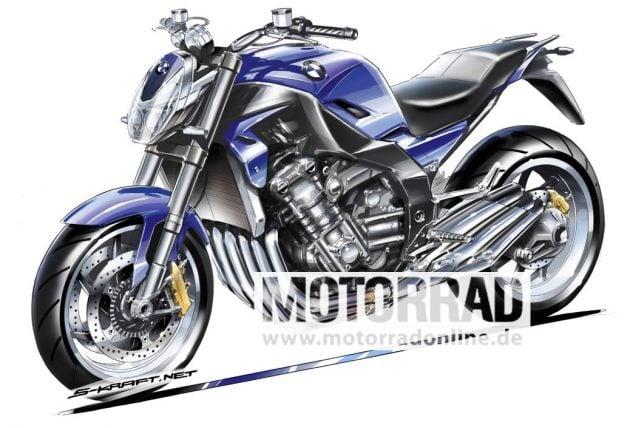 BMW Motorrad K1600R S-Kraft rendering