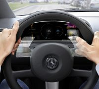 Continental swipe and hand gesture steering wheel-01