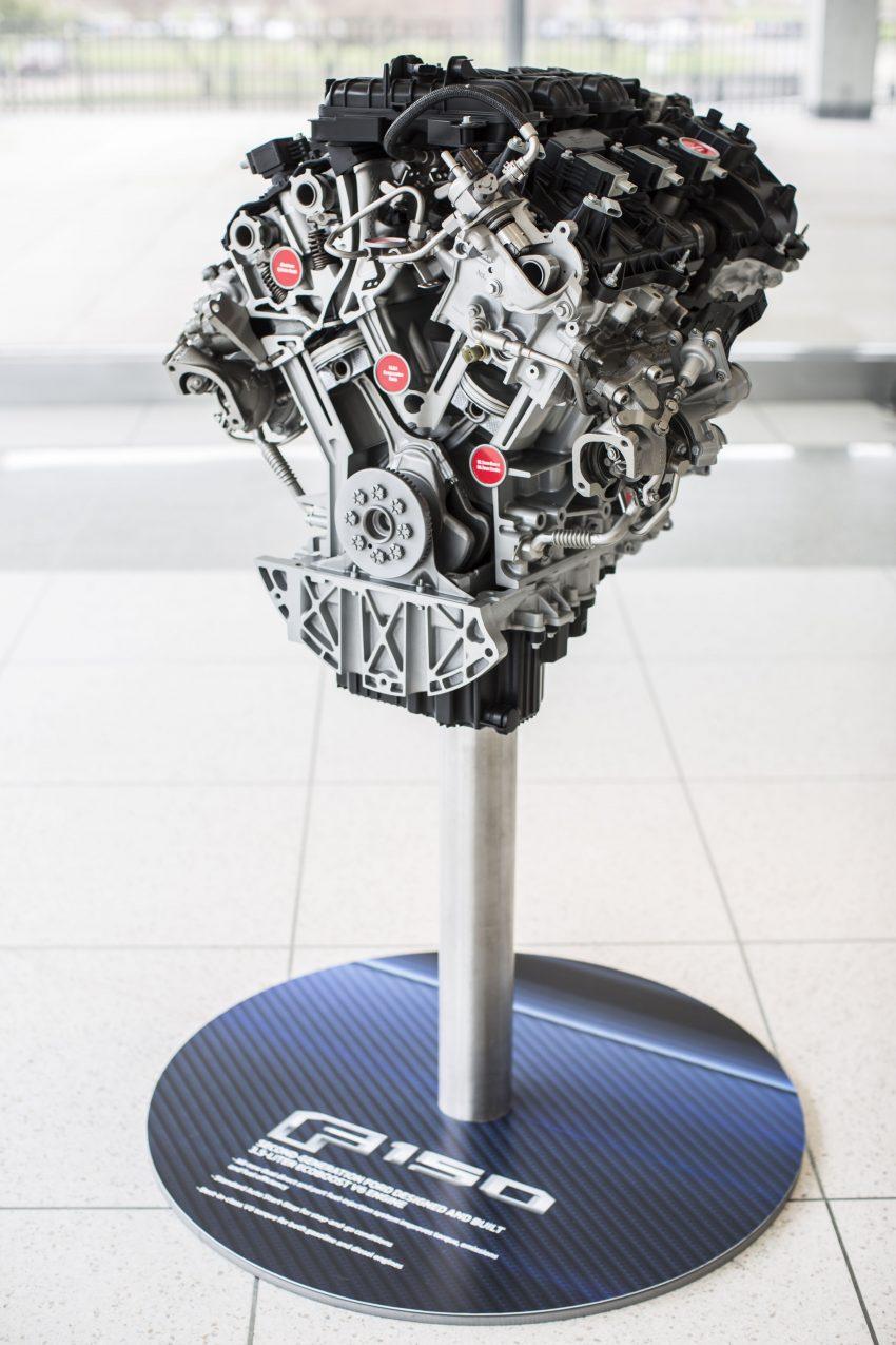 Enjin V6 3.5 liter EcoBoost dan kotak gear automatik 10-kelajuan baharu bakal memacu trak Ford F-150 2017 Image #487852