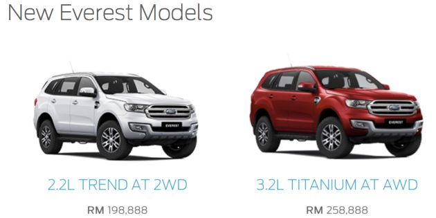 Ford Everest Now In Malaysia 2 2 Rm199k 3 2 Rm259k