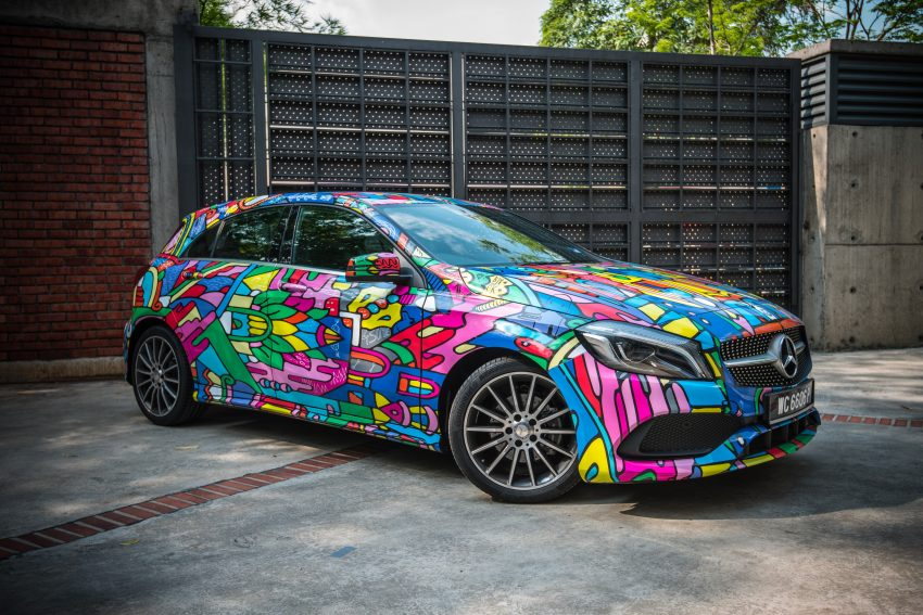 Mercedes-Benz A200 art cars to be displayed at KLPac Image #491173