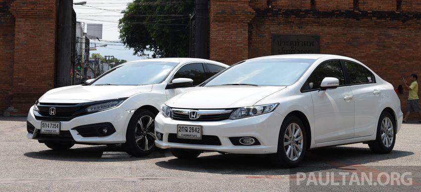 GALERI: Honda Civic – gen-10 FC vs gen-9 FB Image #493143