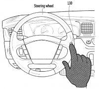 Hyundai touch sensitive steering wheel patent-01