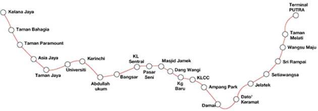 Kelana Jaya LRT Line Extension Innovia System map-01