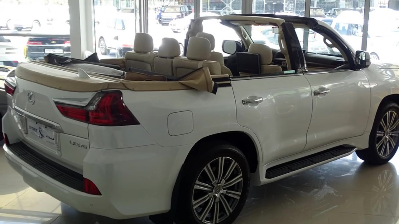 lexus lx 570 with roof chopped off rm1 4 million. Black Bedroom Furniture Sets. Home Design Ideas