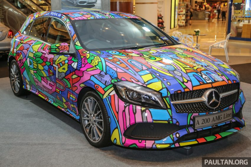Mercedes-Benz A200 art cars to be displayed at KLPac Image #490957
