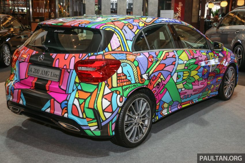 Mercedes-Benz A200 art cars to be displayed at KLPac Image #490960