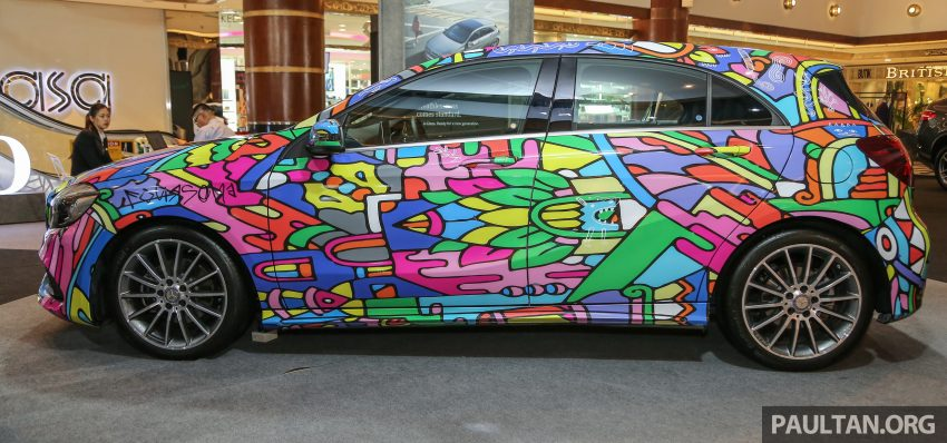 Mercedes-Benz A200 art cars to be displayed at KLPac Image #490963