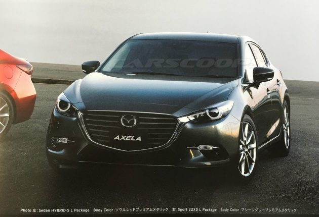 2016 Mazda 3 Facelift First Image Seen In Brochure