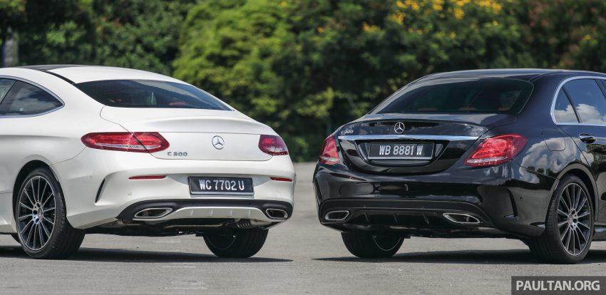GALLERY: Mercedes-Benz C300 Coupe vs sedan Image #495920