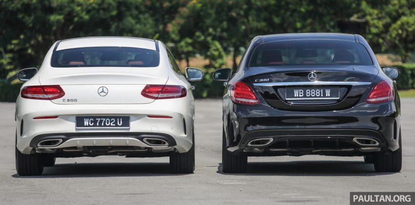 GALLERY: Mercedes-Benz C300 Coupe vs sedan Image #495923