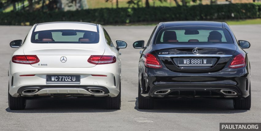 GALLERY: Mercedes-Benz C300 Coupe vs sedan Image #495924