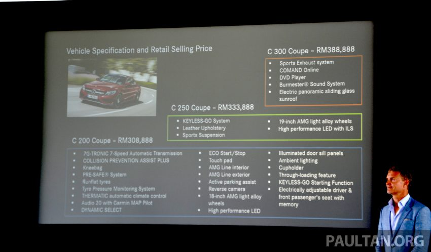 C205 Mercedes-Benz C-Class Coupe launched in Malaysia – three variants, RM309k to RM389k Image #495897