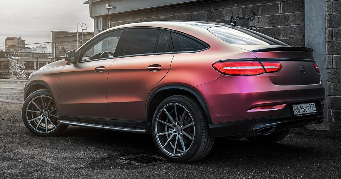 "Mercedes Gle Coupe >> Mercedes-Benz GLE Coupe gets ""multicolour"" wrap Image 490780"