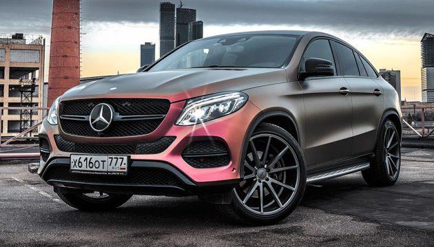 Mercedes-Benz GLE Coupe multicolour wrap 6