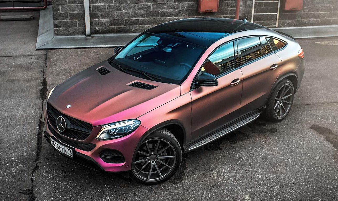 mercedes benz gle coupe gets multicolour wrap. Black Bedroom Furniture Sets. Home Design Ideas