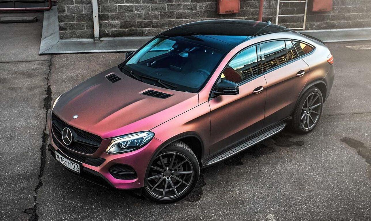 Mercedes benz gle coupe gets multicolour wrap for Mercedes benz gle coupe for sale