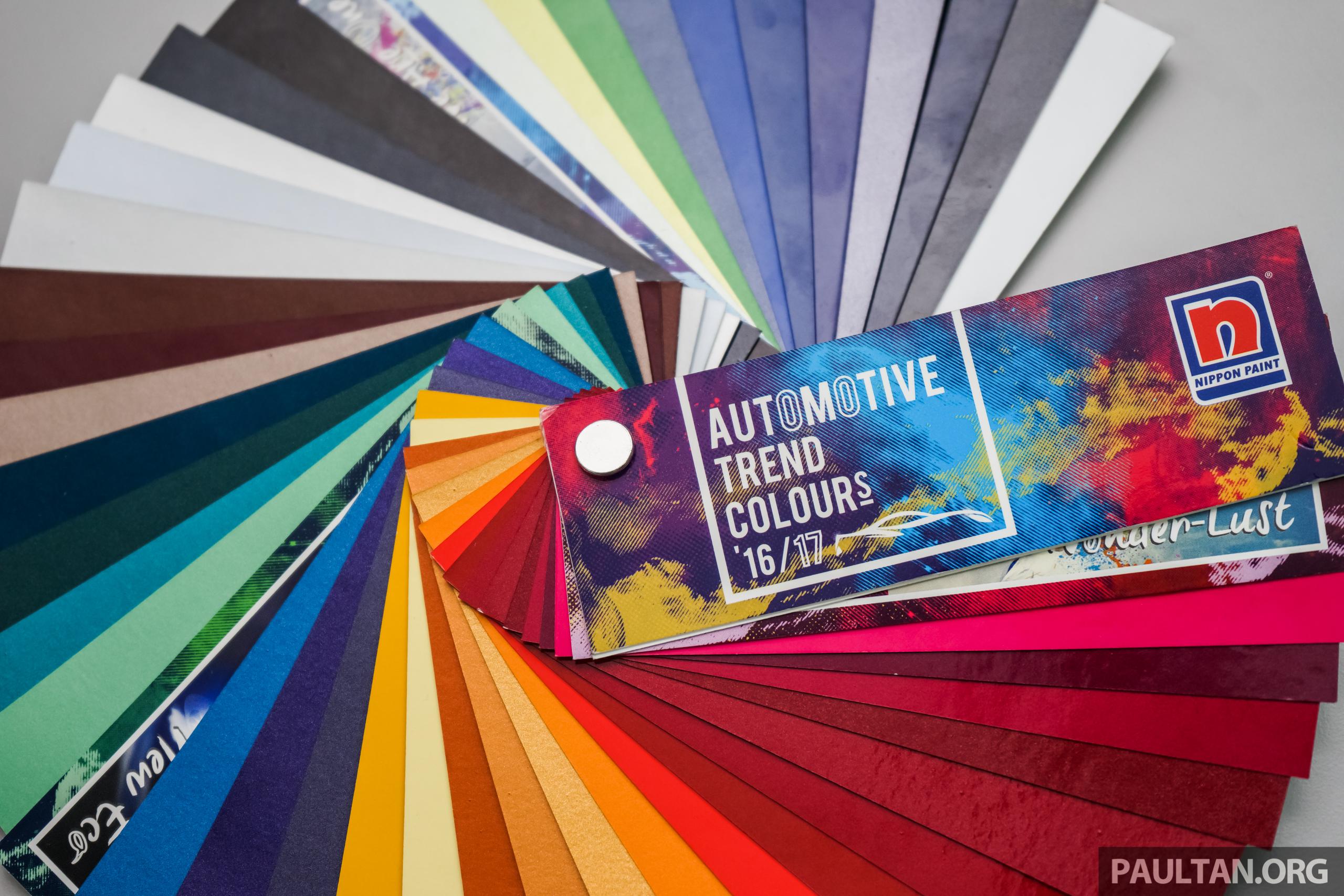 nippon paint automotive trend colours 2016 2017 palette
