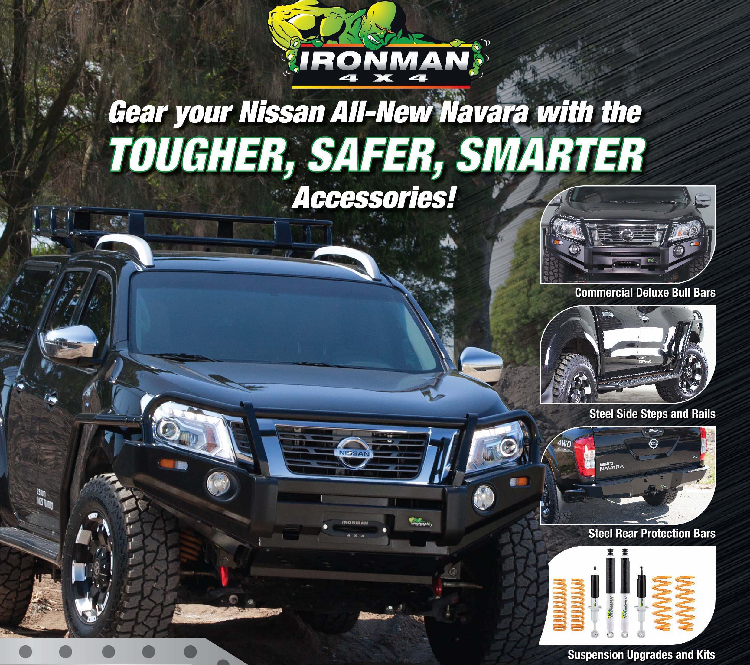 nissan np300 navara now offered with ironman 4x4