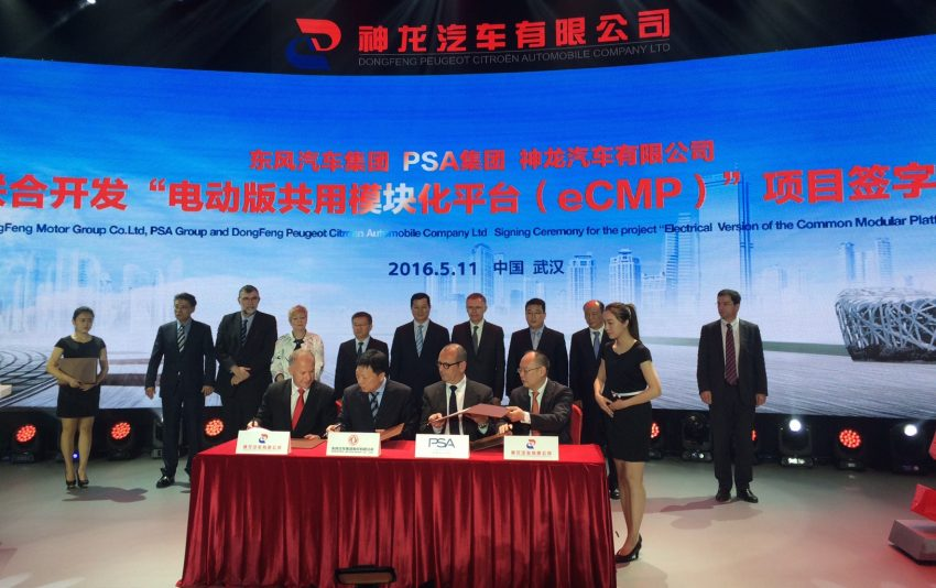 PSA Group and Dongfeng sign agreement to build new e-CMP platform for future all-electric cars Image #492425