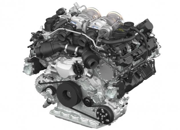 Porsche V8 Twin-turbo engine-01