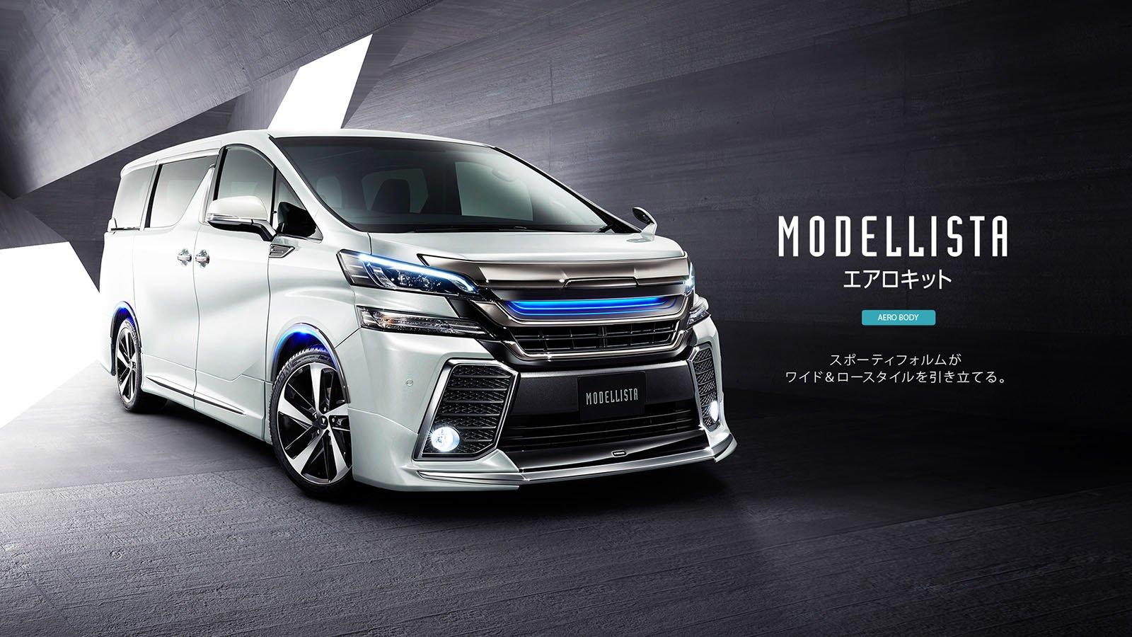 2016 Toyota Alphard, Vellfire get Modellista body kits ...