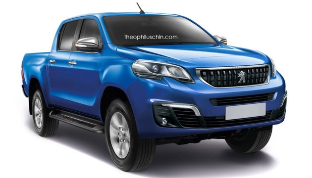 Peugeot pick-up based on Toyota Hilux rendered