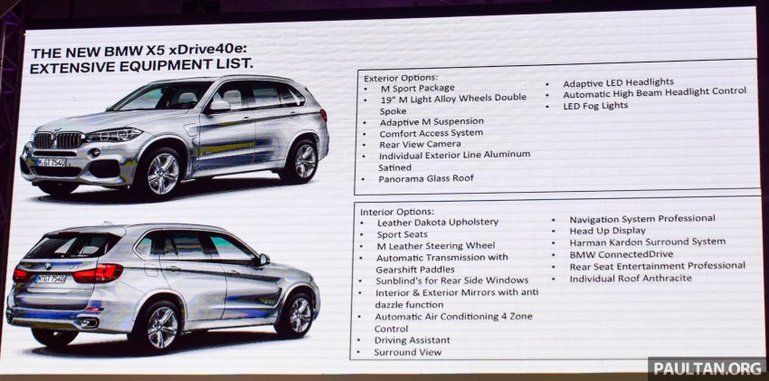 F15 BMW X5 xDrive40e M Sport plug-in hybrid SUV launched in Malaysia – RM388,800 OTR w/o insurance Image #511859
