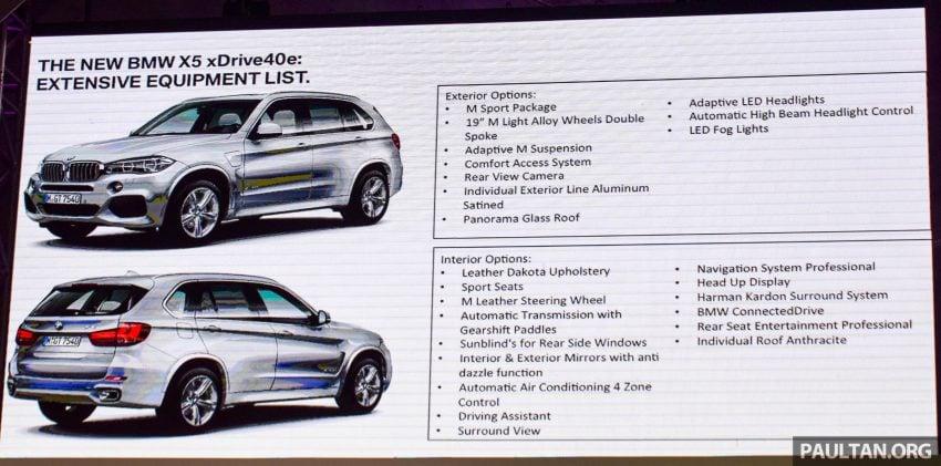 F15 BMW X5 xDrive40e M Sport plug-in hybrid SUV launched in Malaysia – RM388,800 OTR w/o insurance Image #511859