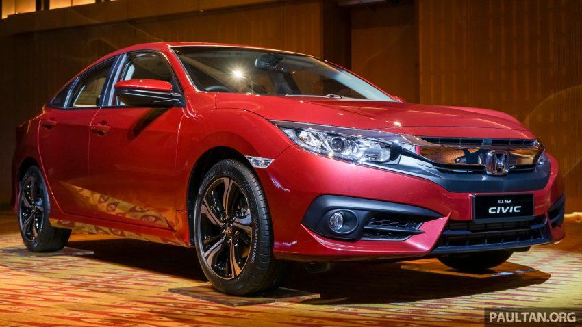 Honda Civic 2016 dilancarkan di M'sia – 1.8L dan 1.5L VTEC Turbo; tiga varian dan harga bermula RM111k Image #506301