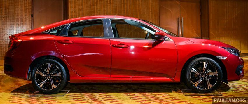 Honda Civic 2016 dilancarkan di M'sia – 1.8L dan 1.5L VTEC Turbo; tiga varian dan harga bermula RM111k Image #506304