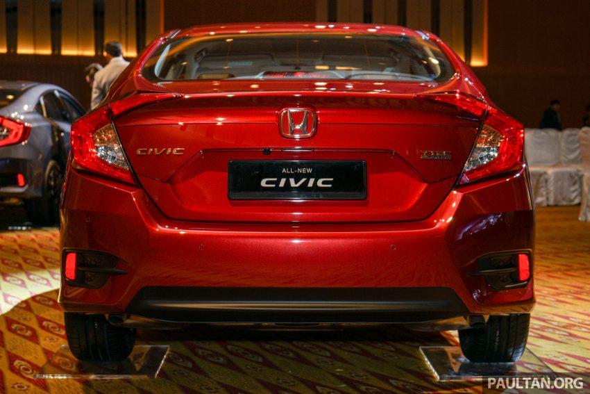 Honda Civic 2016 dilancarkan di M'sia – 1.8L dan 1.5L VTEC Turbo; tiga varian dan harga bermula RM111k Image #506307