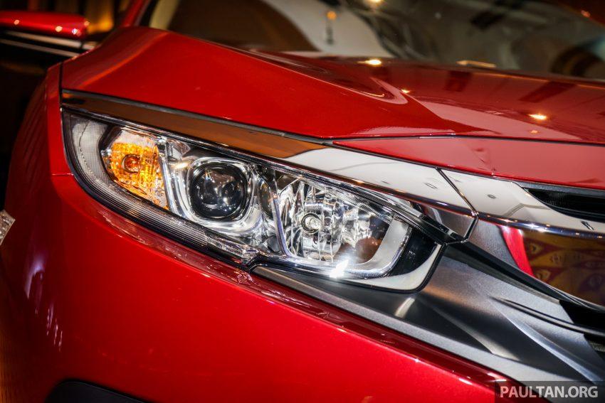 Honda Civic 2016 dilancarkan di M'sia – 1.8L dan 1.5L VTEC Turbo; tiga varian dan harga bermula RM111k Image #506308