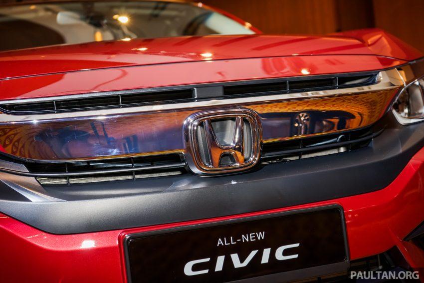 Honda Civic 2016 dilancarkan di M'sia – 1.8L dan 1.5L VTEC Turbo; tiga varian dan harga bermula RM111k Image #506309