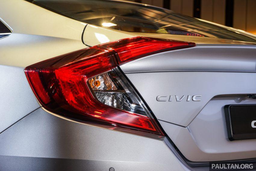 Honda Civic 2016 dilancarkan di M'sia – 1.8L dan 1.5L VTEC Turbo; tiga varian dan harga bermula RM111k Image #505929
