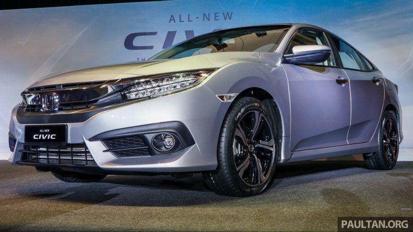Honda Civic 2016 dilancarkan di M'sia – 1.8L dan 1.5L VTEC Turbo; tiga varian dan harga bermula RM111k Image #505918