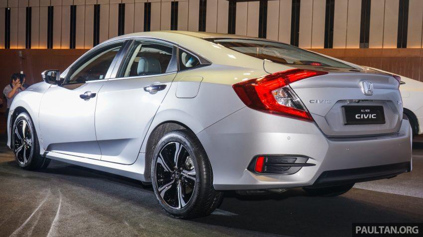 Honda Civic 2016 dilancarkan di M'sia – 1.8L dan 1.5L VTEC Turbo; tiga varian dan harga bermula RM111k Image #505919