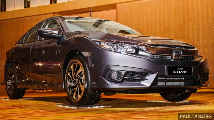 Honda Civic 2016 dilancarkan di M'sia – 1.8L dan 1.5L VTEC Turbo; tiga varian dan harga bermula RM111k Image #506331