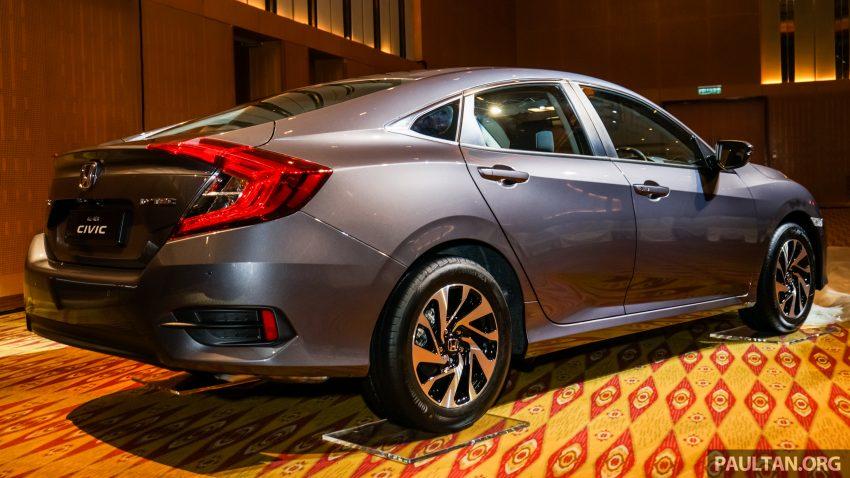 Honda Civic 2016 dilancarkan di M'sia – 1.8L dan 1.5L VTEC Turbo; tiga varian dan harga bermula RM111k Image #506329