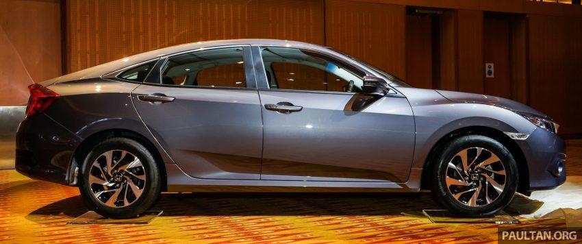 Honda Civic 2016 dilancarkan di M'sia – 1.8L dan 1.5L VTEC Turbo; tiga varian dan harga bermula RM111k Image #506334