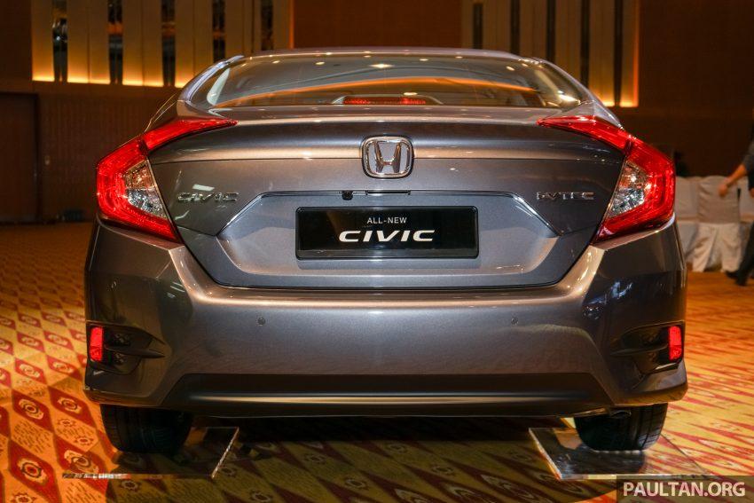 Honda Civic 2016 dilancarkan di M'sia – 1.8L dan 1.5L VTEC Turbo; tiga varian dan harga bermula RM111k Image #506335