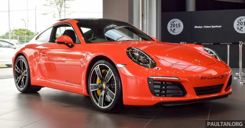 Porsche 911 facelift launched – Carrera, Carrera S and Carrera 4S, new 3.0 litre turbo flat-six, from RM870k Image #510013