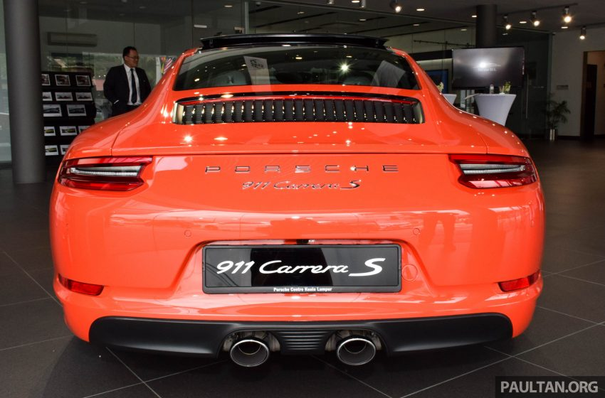Porsche 911 facelift launched – Carrera, Carrera S and Carrera 4S, new 3.0 litre turbo flat-six, from RM870k Image #510017