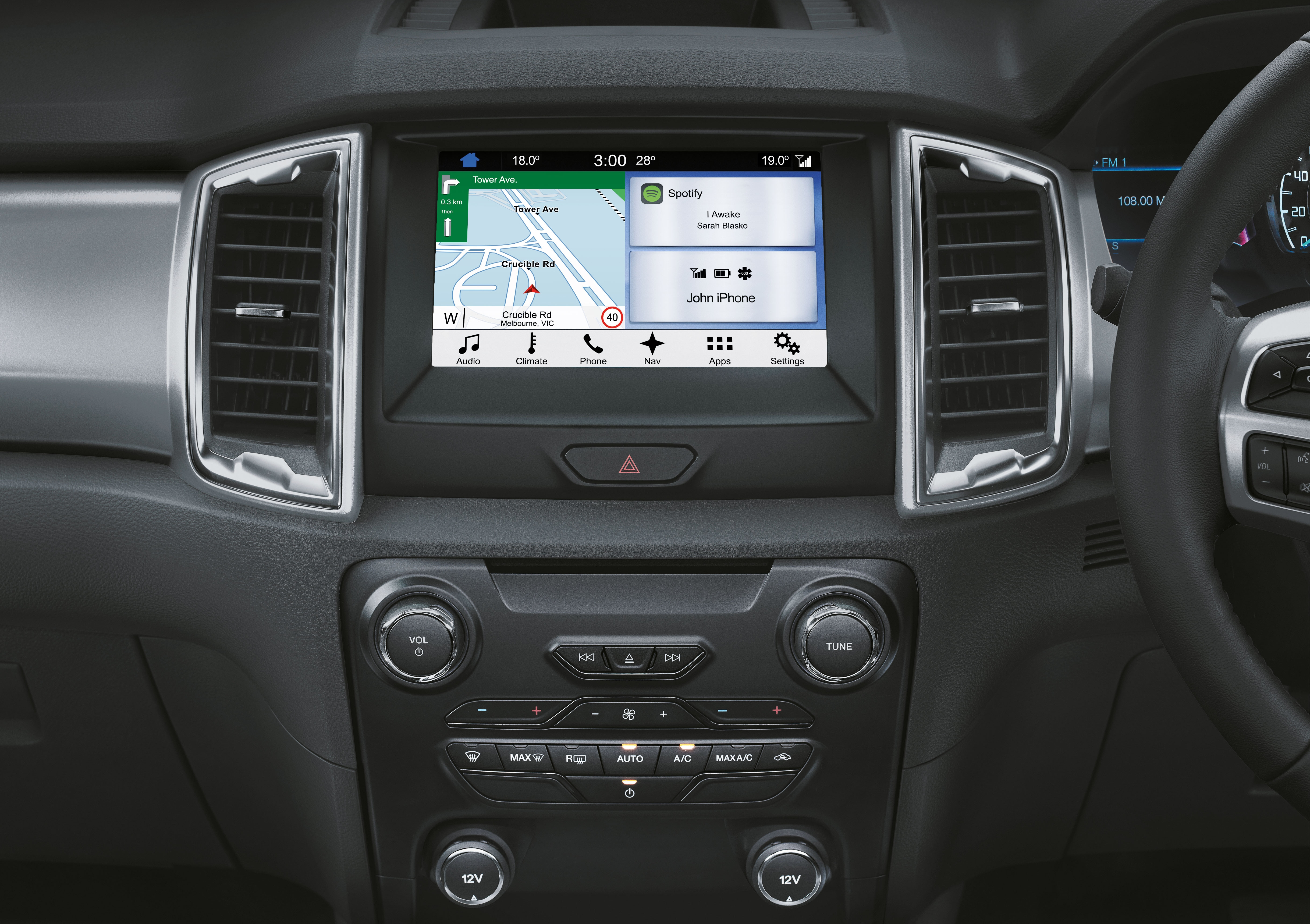 ford ranger sync 3 debuts in malaysia on wildtrak. Black Bedroom Furniture Sets. Home Design Ideas