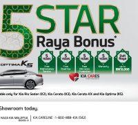 5 STAR RAYA BONUS WITH NAZA KIA MALAYSIA