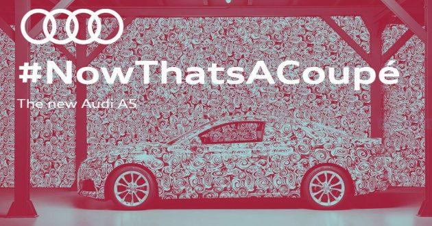 Audi A5 Coupe camo teaser lead