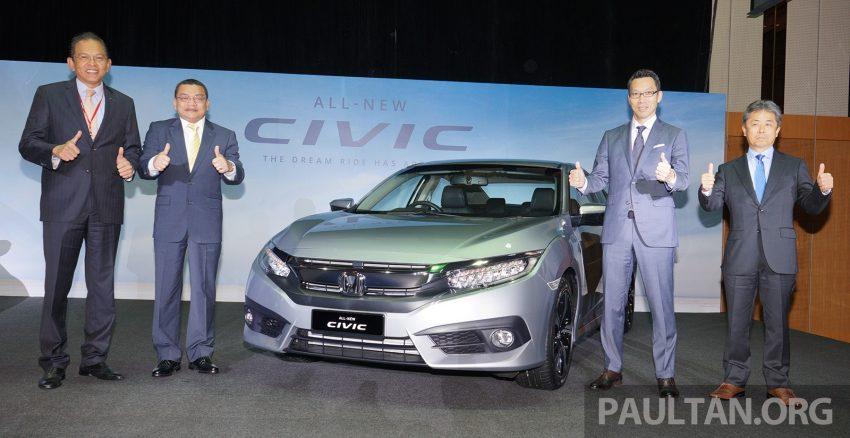 Honda Civic 2016 dilancarkan di M'sia – 1.8L dan 1.5L VTEC Turbo; tiga varian dan harga bermula RM111k Image #505719