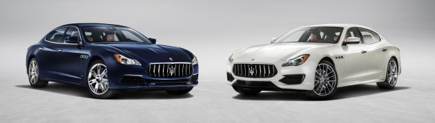 From left the new Quattroporte GranLusso version and GranSport