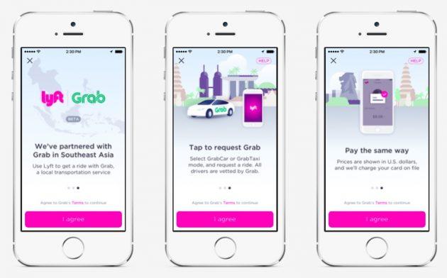 Grab Integration in Lyft App 1