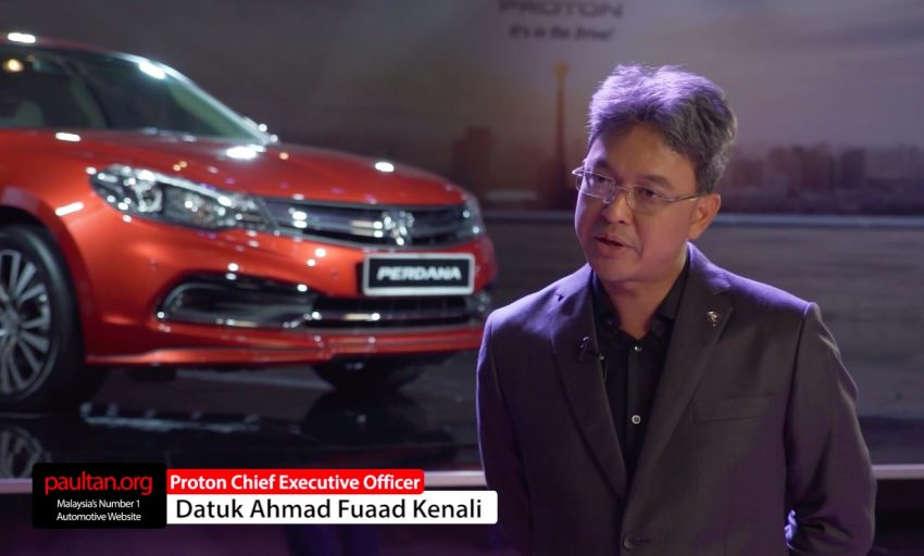 VIDEO: New Proton CEO on the 2016 Perdana – it's not about volume, but prestige and customer service Image #509757
